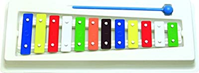 Oro 11003 12 color de sonido Placas Metalófono con marco de plástico