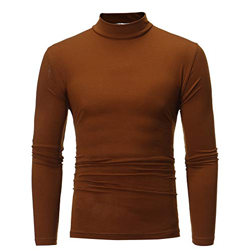 Herren Winter Basic Sweater HUYURI Lässiger Komfort Slim Fit Strickpullover
