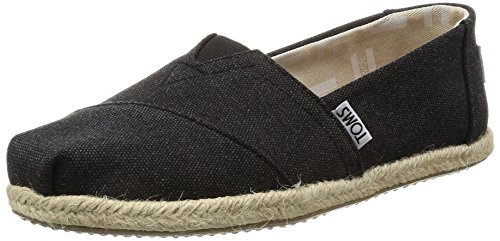 TOMS Damen Alpargata Espadrilles, Schwarz (Black Washed Canvas 001), 38 EU (Canvas Schuhe Toms)