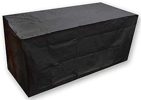 Elevavie Housse De Protection Pour Le Mobilier De Jardin poussière Patio Set couvercle (noir) (213x132x74cm/83.86x51.97x29.13inch)