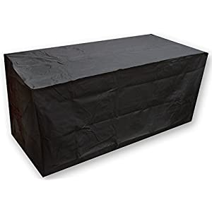Kaulery Garden Furniture Covers Waterproof Patio Outdoor Table Cover Rectangular Black Heavy Duty Oxford Fabric Anti-UV(190x117x61cm/74.80x46.06x24.02inch)