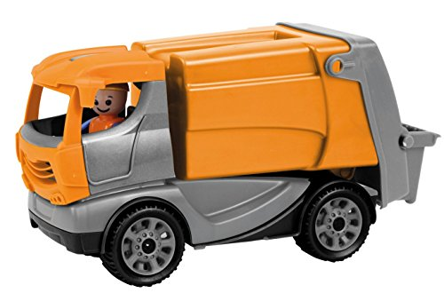 s Müllwagen, stabiles Einsatz Fahrzeug ca. 22 cm, kleines Müllauto Spielfahrzeug für Kinder ab 2 Jahre, robustes Spielzeug Müllabfuhrauto für Sandkasten, Strand und Kinderzimmer ()
