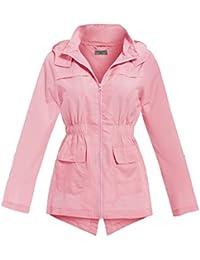 SS7 New Girls Raincoat Parka, Mint, Pink, Age 7-13