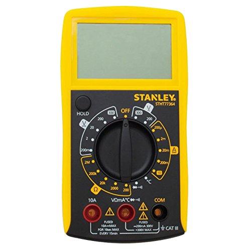 Stanley Mulitmeter (mit 7 Hauptfunktionen und großes LCD Display, aufklappbare Stütze zum freihändigen Arbeiten) STHT0-77364 -