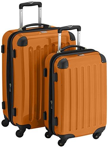 HAUPTSTADTKOFFER - Alex - 2er Koffer-Set Hartschale glänzend, 65 cm + 55 cm, 74 Liter + 42 Liter, Orange