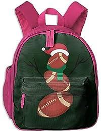 Preisvergleich für Funny Schoolbag Backpack Funny Christmas Football Snowman Kid and Toddler Student Backpack School Bag Super Bookbag