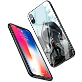 LiangChu 9H Tempered Glass iPhone XR Cases, LC-55 One Piece Zoro Design Printing Shockproof Anti-Scratch Soft Silicone TPU Cover Phone Case for Apple iPhone XR