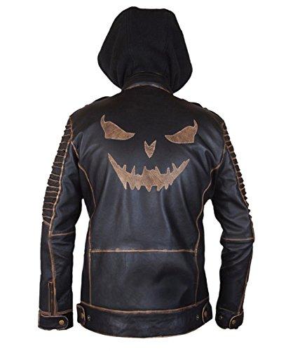 Suicide Squad Jared Leto Joker Killing Hooded Leder Jacke- perfekte Halloween-Kostüm- L