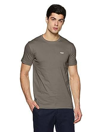 Force NXT Men's Solid Regular Fit T-Shirt (MNFF-151-PO1-CASTLEROCK-S)