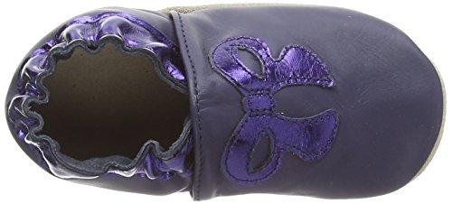 Robeez  Chica, Chaussures souples pour bébé (fille) Bleu - Blau (Navy 10)