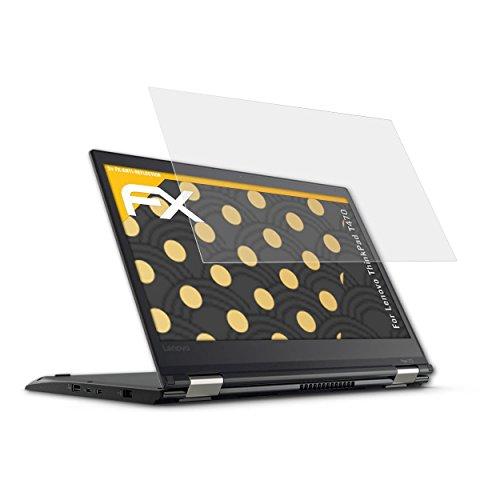 atFolix Panzerfolie kompatibel mit Lenovo ThinkPad T470 Schutzfolie, entspiegelnde & stoßdämpfende FX Folie (2X)