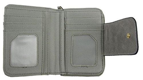 Kukubird In Ecopelle Con Hot Air Baloon Dettaglio & Distintivo Ladies Medio Borsa Clutch Wallet Grey