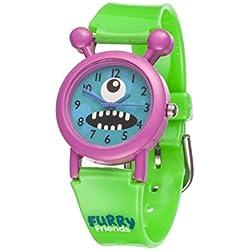 Furry Friends Pink Blinky Watch - Kids Boys Girls Fun Watches Animal