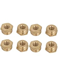 Tradico® 1/2BSP Male X 1/8BSP Female Thread Brass Hex Bushing Pipe Fitting 8pcs