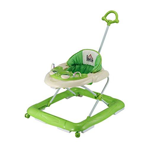 Homcom® Lauflernhilfe Laufhilfe Gehhilfe für Baby Gehfrei Babywalker höhenverstellbar (Grün)