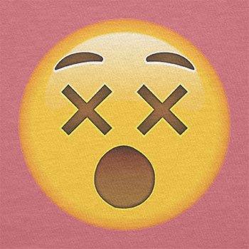 Texlab–dizzy Face Emoji–sacchetto di stoffa Pink