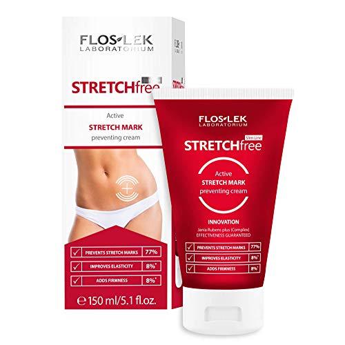 Floslek SLIM LINE STRETCH FREE Aktivcreme gegen Schwangerschaftsstreifen | 150 ml | Straffung und Befeuchtung | Glatte und Starke Haut | Für Menschen jeden Alters | Für alle Hauttypen