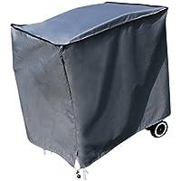 Funda / Cover / Protectora para Barbacoa y Parrilla | 98 x 68 x 88 cm (L x A x A) | Gris | Resistente al Agua | SORARA | Poliéster (UV 50+) | Para exterior Muebles de Jardín, Terraza, Patio