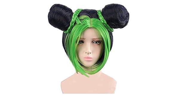 Jolyne Cujoh 01 Personaggio anime Parrucche sintetiche per capelli Costume di Halloween Accessori Cosplay Regalo per fan di anime Chutoral Le bizzarre avventure di JoJo Parrucca Cosplay