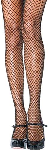 Leg Avenue Damen plus size Fischnetz Strumpfhose schwarz transparent Größe 44 (Plus Fischnetz Size)