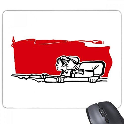 Peking-stift (beatChong Red Flag Mann eine Frau Stift Illustration Griffige Gummi Mousepad Spiel Büro Mauspad Geschenk)