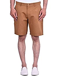 CORTOS Brown 100% Cotton Regular Fit Casual Solid Short
