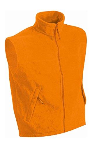 Fleece Vest in Orange Size: M