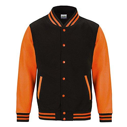AWDis Damen Modern Jacke Jet Black/ Electric Orange