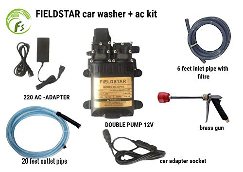 Fieldstar High Pressure Vehiclash Washer Set-Mounted 12V Car