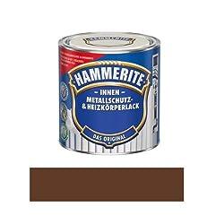 500 ml Hammerite Metallschutz & Heizkörperlack Innen Braun RAL 8028, Glanz