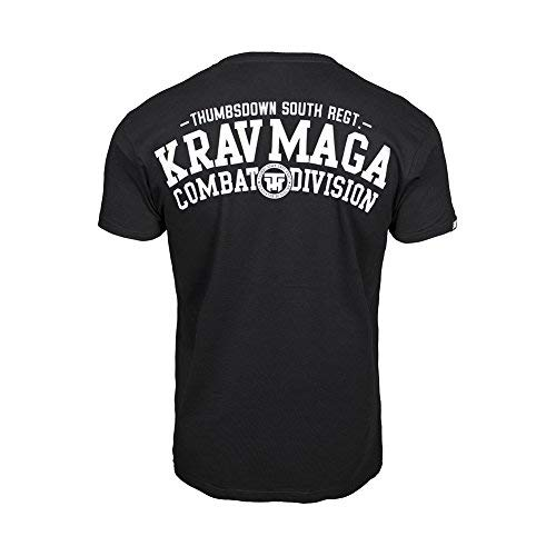 413f41631 Thumbs Down Krav MAGA T-Shirt. Combat Dyvision. MMA. Gym. Training