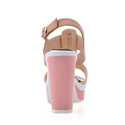 Adee pour femme Couleurs assorties en polyuréthane Boucle Sandales Rose - rose
