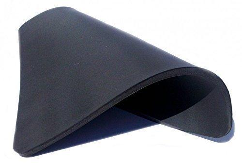 RICOO Silikonmatte SM3838 rutschfest - Schwarz - Maße 380x380x10 mm | Ersatzmatte Kautschukmatte für Transferpresse Thermopresse Textilpresse T-Shirt Presse