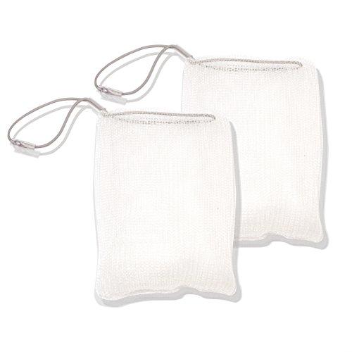 ASAVO Seifensäckchen aus Nylon (BPA-frei), hergestellt in Deutschland, für Seifen & Seifenreste zum Aufschäumen, schnell trocknend, mit Aufhänge-Kordel: Seifennetz, Seifensparer, Seifenbeutel, 2 Stück