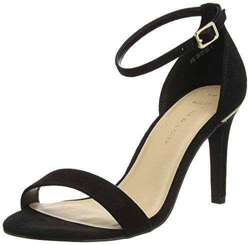 New Look Damen Wide Foot Sensible Pumps Schwarz (Black)