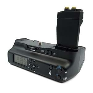 LCD Batteriegriff BG-E8 für Canon EOS 550D / 600D / 650D / 700D - Bestückbar mit 1-2 Li-Ion Akkus des Typs LP-E8 oder über beigelegten Adapter mit 6x AA Batterien