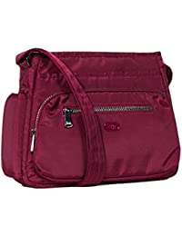 Lug Shimmy Cross-body Bag, Brushed Red Cross Body Bag