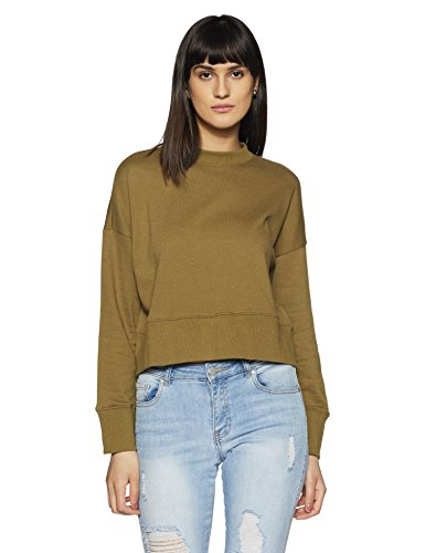 Forever 21 Women's Cotton Jacket (00206774053_0020677405_Olive_3_)