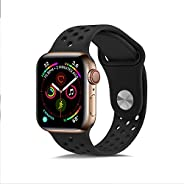 SKEIDO Compatible for Apple Watch Band 42mm 44mm,Jxh-Life Soft Silicone Sport Band Replacement Wrist Strap for