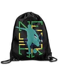 BagsPillow Neymar Brazil Soccer Sport Backpack Drawstring Print Bag