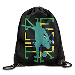 7c7fb2eaf9 Icndpshorts Neymar Brazil Soccer Sport Backpack Drawstring Print Bag Zaini  e borse sportive Borse da palestra