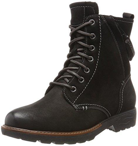 Jana Damen 25206 Combat Boots, Schwarz (Black), 39 EU