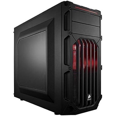 Corsair Carbide Series SPEC Aggressive-03-Mid-Tower con finestra Computer Gaming con ventola a LED (1 Posteriore Finestra Grafica)