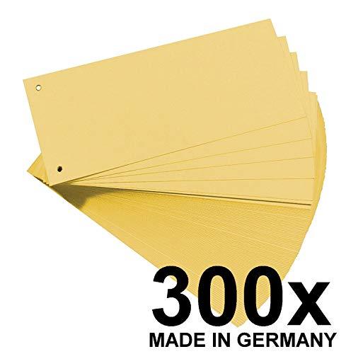 Falken Karton-Trennstreifen 10,5 x 24 cm (gelb)