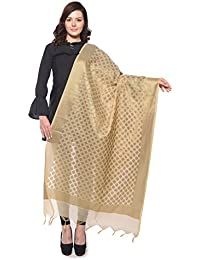 a1767e25845a Weaving Wonders Women s Banarasi Silk Cotton Blend Chanderi Dupatta  (VE11045-A