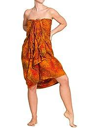 PANASIAM Sarong, Sommertuch in leuchtenden Farben, handgemachte Wachsbatik auf hochwertiger Viskose