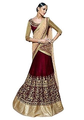Indian Designer New Arrival Party Wear Branded Bridal Maroon Lehenga
