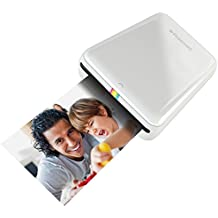 Polaroid  ZIP - Impresora móvil  (Bluetooth, NFC, micro USB, tecnología ZINK Zero Ink, 5 x 7.6 cm, compatible con iOS y Android), color blanco