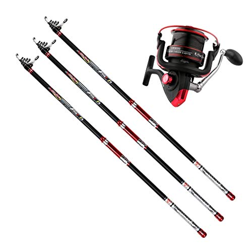 BXYKM Angelrute und Rolle Combos Fishing Rod Full Kit Spinning Fishing Gear Organizer Pole-Sets Fishing Rod (Size : 4.2m) (Spinning Ring Gear)