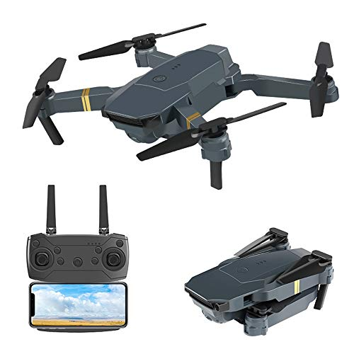 Dkings Eachine JY019 Pocket Drohne WiFi FPV mit 2MP Weitwinkel Kamera High Hold Modus Faltbare Drohne 720P Kamera WiFi Faltbare Selfie Drohne RC Quadcopter Altitude Hold (A)